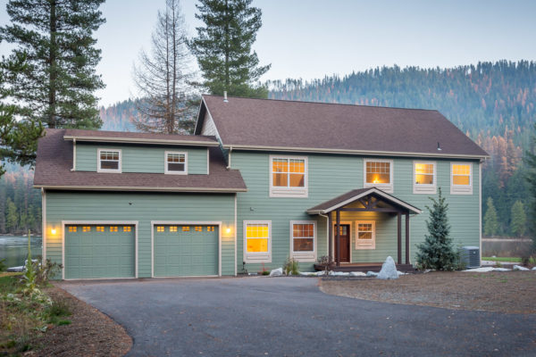 Custom Two-Story Modular Home - Exterior - Stratford Home Center - Priest Lake Idaho