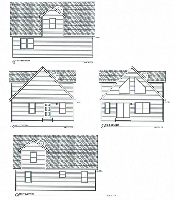 Modular Cape Cod Elevations