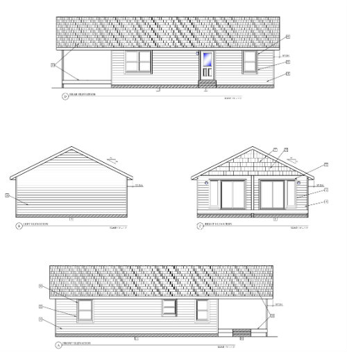Custom Modular Cottage Elevations
