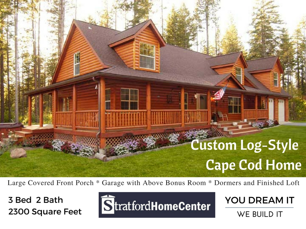 Portfolio Pick: Custom Log-Style Cape Cod Home
